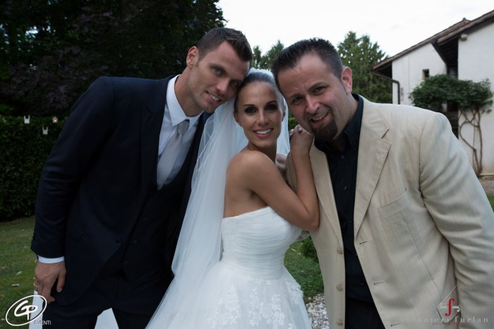 News image GP Eventi signs the Wedding of  Daniele Padelli, the goalkeeper of the Turin's soccer team, who tied the knot with the beautiful Claudia